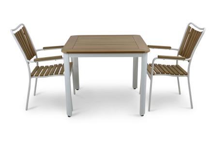Underhållsfria utemöbler - Skanör 90x90cm inkl. 2 stolar