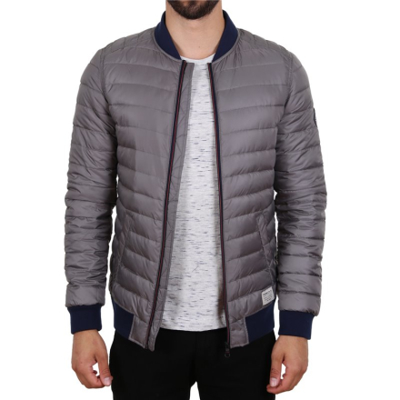Jacka Alive Tom Tailor Denim Light Puffer Bomber Transition Jacket Grey