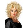 Sexig vit kurlig lockig Blond peruk Party wig långt hår NY