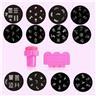 NY! Express Nagel stämpel 12st plattor mönster-Dekorera naglarna