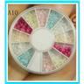 Hjul med dekorationer Nageldekornation för naglar