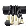 Professionellt set med svarta makeupborstar, 7 delar