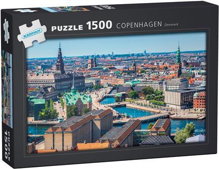 Pussel 1500 Bitar Motiv Köpenhamn Danmark