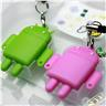 2PCs Card Reader Android Robot Doll Mobile Strap Chains