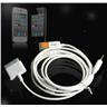 NY!USB + AUX kabel för iPad 1/2 iPhone 4/4S 3GS - Vit