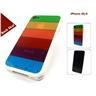 (Vit) Rainbow Skal till iPhone 4S/4