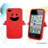 NY! Angel Silikon fodral Cover till iPhone 4/4s Röd (i9)
