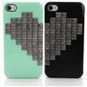 Skal iPhone 4/4S - Svartanitar hjärta grön & svart