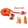 *OrangeStore * iPhone 4/4S iPad iPod Laddare+1M USB Kabel+BilLaddare Orange