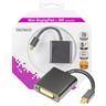 DELTACO mini DisplayPort till DVI-I adapter, ha-ho, 0,1m, svart