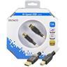 DELTACO, USB 2.0 kabel Typ A hane - Typ B hane 1m