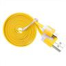 SKU00491 3ST 2M black/​white/​Yellow Usb Data & Charge Cable for Android systems