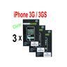 3 st Skärmskydd för Apple iPhone 3G / 3GS - Clear