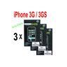 3 st Skärmskydd för Apple iPhone 3G / 3GS - Anti-Glare