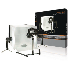 ;Camlink Mini fotostudio LED-lampor 40 x 40 x 40