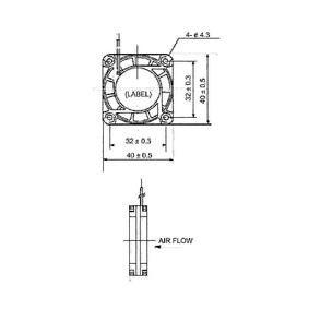 ;Sunon Axial Fläkt DC 40 x 40 x 20 mm