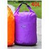 NY!40L Vattentät Packpåse för Kanot Kajak Rafting Camping Purple
