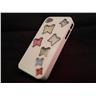 Apple Iphone 4 4S Fodral Skal Case Med Beads (7 Butterflys) Vit