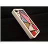 Apple Iphone 4 4S Fodral Skal Case Med Beads (Random Triangle) Vit