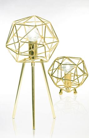 Globen Lighting Diamond Bordslampa Mässing