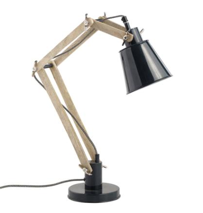 Nordal Retro Bordslampa Svart/Trä