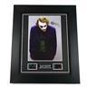 Dark Knight Heath Ledger Signed + Original Dark Knight Film Cell Tavla