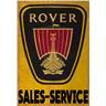 ROVER SALES SERVICE GARAGE WORKSHOP ADVERTISING RETRO NOTSTALGI METALL PLÅTSKYLT