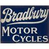 BRADBURY MOTOR CYCLES VINTAGE GARAGE ADVERTISEM RETRO NOTSTALGI METALL PLÅTSKYLT