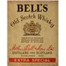 BELLS OLD SCOTCH WHISKY RETRO NOTSTALGI METALL PLÅTSKYLT