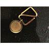 Nyckelring , guldförgylld. 25mm i diam.Rund platt. Mycket hög kvalitet.Fr gulds