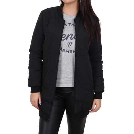 Damjacka Exact Jacqueline De Yong Alisha Quilted Coat Coat Black