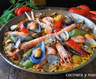 Recetas de de mariscos mixtos mytaste - Cocina con sara paella ...