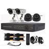 4 Kanals CCTV DVR SystemHD Inspelning (2Utomhuskameror & 2 Dome Inomhusbruk)