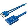 DELTACO aktiv USB 3.0-förlängningskabel, 2xTyp A portar, 5m, blå