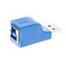 DELTACO USB 3.0 adapter, Typ A ha - Typ B ho, blå