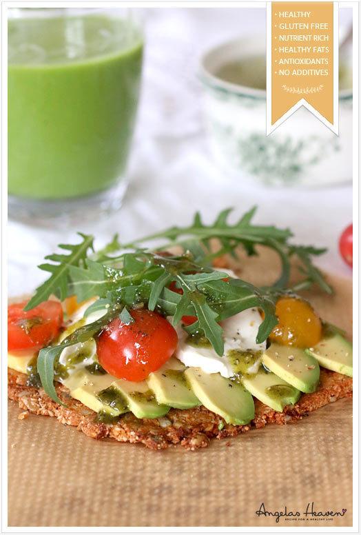 Hälsopizza med glutenfri rawfoodbotten