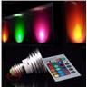 16 Färger LED RGB Light Lampa mit Fjärrkontroll E27/3W