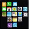NY!18st iPhone 4/4S/5 App magneter uppsättning på kylskåpet