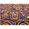 ANTIK WALLHANGING unikt handarbete från Indien vintage tavla hantverk FRI FRAKT