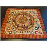 ANTIK WALLHANGING unikt handarbete från Indien vintage indisk tavla FRI FRAKT