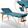Fabriksny Profesionell Massagebänk 3-Zon med Väska Grön