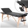 Fabriksny Profesionell Massagebänk 3-Zon med Väska Svart
