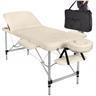Fabriksny Profesionell Massagebänk 3-Zon Beige Aluminium + Väska