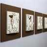 Vacker flickor, en vacker skulptur, 40x160x10 cm