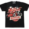 Rockabilly/​Retro/​Vintage/​50-60 tals T-Shirt Herr Motor Oil S