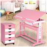 Skrivbord med hurts barn (Rosa)