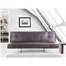 Bäddsoffa brun - soffa - bäddsoffa - soffa i konstskinn - soffa i konstläder - B