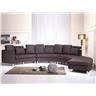 Rund divansoffa brun - soffa - skinnsoffa - lädersoffa - ROTUNDE