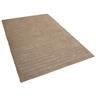 Matta beige - 160x230 cm - golvmatta - lurvig - polyester - MUGLA