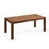 Matbord brun - massiv ek - träbord - köksbord - matsalsbord - 180 cm - NATURA